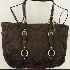 COACH SIGNATURE brown handbag/tote